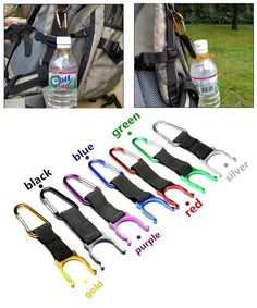 Carabiner Water Bottle Buckle Hook Holder Clip Camping Hiking Key Chain WB1