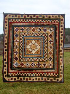 """""""My Troubled Stars"""" - 2010. This quilt won me 1st place in the Machine Quilted quilts category at our local guild.uploaded by Brenda Peplinski via Jenniewren149"""