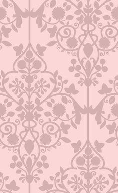 Diane's Digital Damask - Pink Scalable - Shown : 12Hx19V Repeat [DIG-1251] : Designer Wallcoverings™