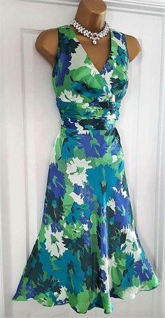 00e28abcdf9ea0 Monsoon   kensington silk floral evening cocktail dress size 16 gorgeous