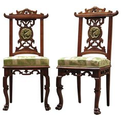Pair of Chairs by Gabriel Viardot - France, ca. 1890 | From a unique collection of antique and modern chairs at http://www.1stdibs.com/furniture/seating/chairs/
