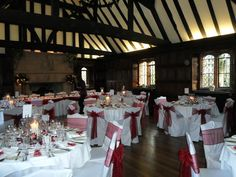 Valentine's Day Wedding at Leez Priory - Wedding Breakfast in the Great Hall
