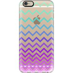 Pastel Ombre Chevron Transparent - iPhone 6s Case,iPhone 6 Case,iPhone 6s Plus Case,iPhone 6 Plus Case,iPhone 6 Cover,Clear iPhone 6 Case,Clear iPhon