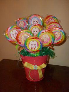 BARBIE CENTERPIECE Barbie Theme Party, Barbie Birthday Party, Party Themes, Party Ideas, Barbie Centerpieces, Party Centerpieces, Girly Girl, Birthdays, Big
