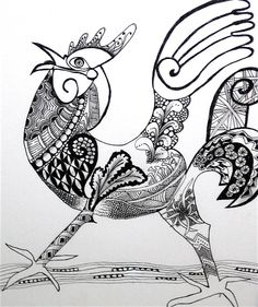 Zentangle I'm not a big fan of chickens, BUT, I like this!