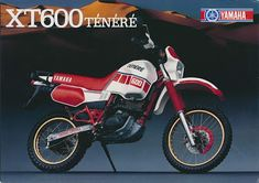 Viajante Do Tempo Real: YAMAHA TÉNÉRÉ XT600Z Bmx, Yamaha Xt 600, Honda Dominator, Honda 125, Off Road Bikes, Japanese Motorcycle, Motorcycle Bike, Scrambler, Cars And Motorcycles