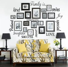 Family Is Vinyl Lettering Words Wall Art Quote Sticky Decals | eBay