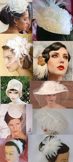 Vintage wedding hats and fascinators