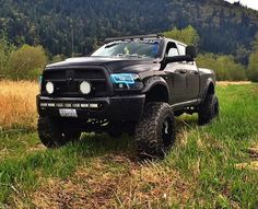 Black Dodge Cummins with Blue Halo Lights Jacked Up Trucks, Ram Trucks, Dodge Trucks, Cool Trucks, Pickup Trucks, Lowered Trucks, Cummins Diesel, Dodge Cummins, Diesel Trucks