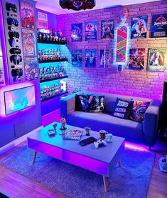 Computer Gaming Room, Gaming Room Setup, Cool Gaming Setups, Gamer Setup, Pc Setup, Nerd Room, Gamer Room, Bedroom Setup, Room Ideas Bedroom
