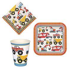 Cake Online ANM0308 20 Serviettes + 12 Assiettes + 12 Gobelets Carton Multicolore 18 x 18 x 6 cm