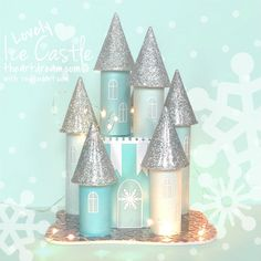 Time for a LOVELY Ice Castle for our next 31 Days of Love guest post series. This is simply a stunning Toilet Paper Roll Castle for kids to make this Winter and Valentine's Day. A beautiful Winter Craft for Kids. Maybe Leo the Love Struck Lion would love to pop by?!  Lovely Ice Castle Hey …