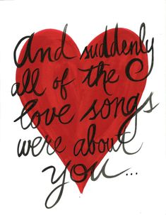 And suddenly all of the love songs were by HancockCreativeShop