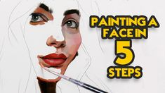 Painting a Face in 5 Steps Panda Face Painting, Face Painting Images, Abstract Portrait Painting, Face Painting Tutorials, Painting Videos, Acrylic Painting Canvas, Diy Canvas, Canvas Art, Art Journal Techniques