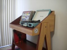 Record Player Stand and Vinyl Storage by DKVinylDisplays on Etsy https://www.etsy.com/listing/255154892/record-player-stand-and-vinyl-storage