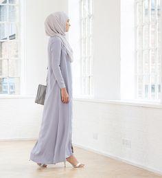 Pale Blue Long Shirt - £47.99 : Inayah, Islamic Clothing & Fashion, Abayas, Jilbabs, Hijabs, Jalabiyas & Hijab Pins