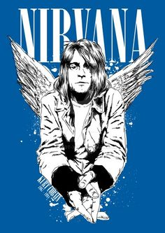 Tribute to Kurt Cobain by probot-x on deviantART Kurt Cobain Art, Kurt Cobain Photos, Nirvana Kurt Cobain, Nirvana Band, Rock Posters, Band Posters, Grunge, Scott Weiland, Band Wallpapers