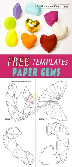 Free templates to make paper gems collection