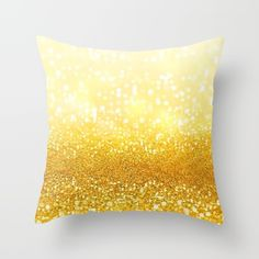 Gold Love Throw Pillow by Pink Berry Patterns | Society6