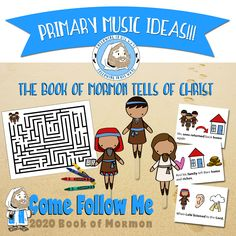 Primary Music Helps: The Book of Mormon Tells of Christ: Song. Primary Program, Lds Primary, Primary Lessons, Primary Music, Willis Family, Family Home Evening, Book Of Mormon, Teacher Resources, Sunday School
