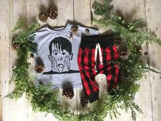 Plaid Toddler Boy Fall Outfit / Toddler Christmas by anUPdesign