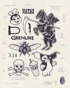 originalgiantcontent:  Gremlins by Mike Giant, 2013.