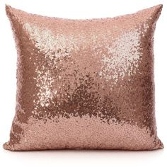 18 Inch (45 cm) Europe Luxurious Sequin Pillow Cushion Cover Pillow... (54 BRL) ❤ liked on Polyvore featuring home, home decor, throw pillows, pillows, decor, filler, rose gold home accessories, european home decor, sequin throw pillow and euro throw pillows