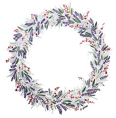 Handmade Cards, Watercolour Christmas Wreath Illustration - by Katy Bennett for Bee Illustrated