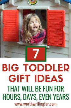 I love this list of big toys for toddlers! Great toddler gift ideas and fun toys that will provide hours, days, even years of fun for your child! This is my go-to list for toddler birthday gifts and Christmas presents. Toddler Play, Toddler Gifts, Toddler Preschool, Toddler Speech, Toddler Christmas, Christmas Gifts For Kids, Family Christmas, Christmas Presents, Christmas Images