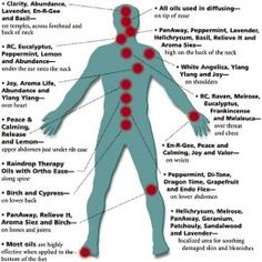 Aromatherapy essential oil application areas