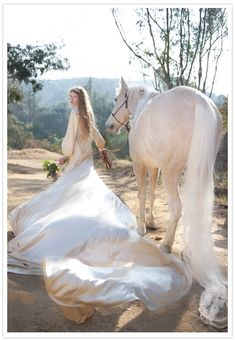 every bride needs a white horse...