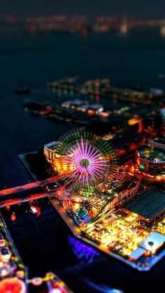 Yokohama Tilt Shift on We Heart It The Places Youll Go, Places To See, We Heart It, Tilt Shift Photography, Japan Photo, Tumblr, Yokohama, Future Travel, Travel Goals