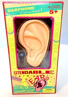 Wizarding World of Harry Potter Weasleys' Wizard Wheezes Electronic Extendable Ear Sound Amplifier Toy Prop Replica.