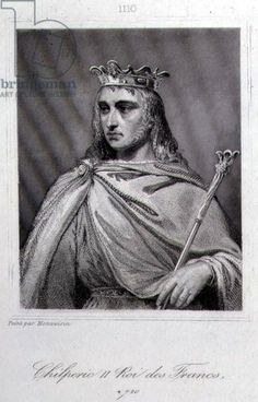Chilperic II (c.675-721) King of Neustria (engraving) Chilperic II was taken from a monastery (where he was living under the religious name of Daniel) and made king of Neustria in 715 or 716. Lineage: Clovis I - Lothair I - Dagobert I - Clovis II - Childeric II - Chilperic II