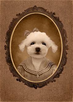 5 x 7 pouces Hot Digital chien Tiny Tim par HotDigitalDog sur Etsy