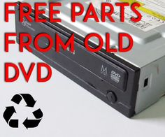 How to Salvage a DVD Drive for Free Parts - gp raw Have you ever wonder what is inside those optical drives that can be used ?When I was a kid it was really interesting for me to know ways to recycle parts. Hobby Electronics, Electronics Gadgets, Electronics Projects, Pc Gadgets, Electronics Accessories, Salvage Parts, Diy Tech, Raspberry Pi Projects, Electrical Projects