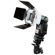 Lumitec - Materiais para Fotografia | Photobook | Estúdio fotográfico | RadioFlash | ATEK :: Suporte Flash Sombrinha Articulado com Hot Shoe Holder (avulso) - R$ 79,00
