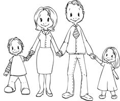 Family is my main priority in the whole world. Family Coloring Pages, Farm Animal Coloring Pages, Free Coloring Sheets, Printable Coloring Sheets, Cool Coloring Pages, Kids Web, Family Drawing, Images Of Colours, Cartoon People