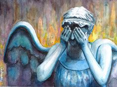 """""""Don't blink. Blink and you're dead. They are fast. Faster than you can believe. Don't turn your back. Don't look away. And don't blink."""" The Doctor Weeping angel, also known as Lonely Assassin. Wa..."""