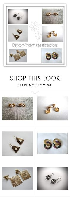 """""""Vintage earrings..."""" by martysattic ❤ liked on Polyvore featuring Trifari and vintage"""