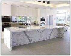 Ideas For Kitchen Marble Island Modern Marble Top Kitchen Island, Kitchen Island Decor, Modern Kitchen Island, Kitchen Tops, Modern Kitchen Design, Home Decor Kitchen, New Kitchen, Kitchen Islands, Kitchen Ideas