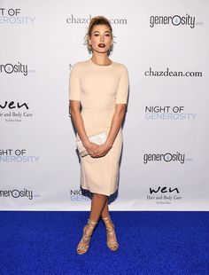 Hailey Baldwin Wore the Most Versatile Dress for Holiday Parties   WhoWhatWear