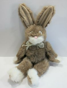 Covington Russ Berrie Rabbit Bunny Brown White Easter Vintage #Russ Berries, Rabbit, Bunny, Plush, Teddy Bear, Easter, Brown, Ebay, Vintage