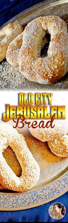 Old City Jerusalem Bread with sesame seeds, vegan, easy. via @SunnysideHanne
