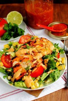 Chipotle-Mango BBQ Chicken Salad
