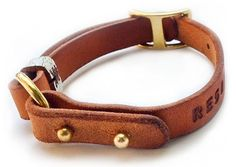 Adjustable Leather Dog Collars from RESQ/CO supporting rescue dogs