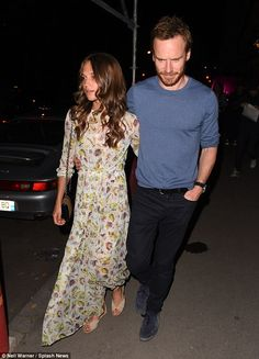 Date night: They've been enjoying some time together in Europe over the past week, and after some fun in Venice Michael Fassbender and Alicia Vikander have taken their love to Paris