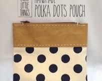 Image result for polka dot zipper pouch