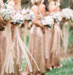 What wedding dreams are made of.......perfect pastel posies against a back drop of shimmering sequins and soft romantic sunshine....ribbons dancing to natures song. Regram @jennyyoonyc #perthbrides #perthwedding #bridesmaids #bridesmaidsperth #perthboutique #sequindress #gold #perthmaids #weddingswa