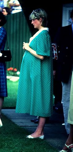 June 6, 1982: Diana, Her Royal Highness Princess Of Wales At Windsor Polo Club. This Is Just Before Giving Birth To Prince William.